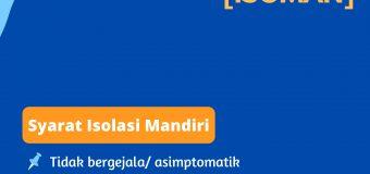 PANDUAN ISOLASI MANDIRI (ISOMAN)